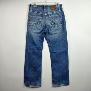 BKE Buckle Mens Tyler Straight Jeans 30 R Distress